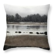 Too Early Out Throw Pillow