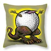 Golf Zilla Throw Pillow