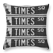Times Square New York City Street Sign Deco Swing Throw Pillow