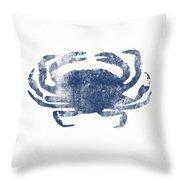Blue Crab- Art By Linda Woods Throw Pillow