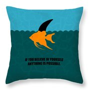 If You Believe In Yourself Anything Is Possible Corporate Startup Quotes Poster Throw Pillow