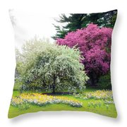 Muted Meadow Throw Pillow