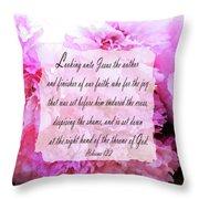 The Throne - Verse Throw Pillow