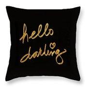 Darling Bella I Throw Pillow