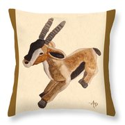 Cuddly Gazelle Watercolor Throw Pillow