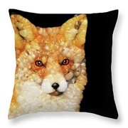 Red Fox Abstract Throw Pillow
