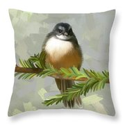 Fantail  Throw Pillow