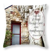 With Me - Verse And Heart Throw Pillow
