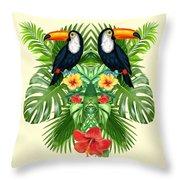 Tropical Summer  Throw Pillow