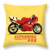 Ducati 888 Throw Pillow