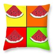 Tiled Watermelon Throw Pillow