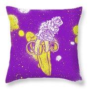 Floral Banana Throw Pillow