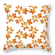 Black Cherry Pressed Leaf Art Throw Pillow