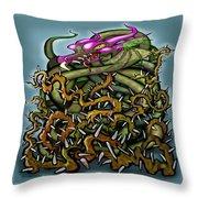 Dragon In Thorns Throw Pillow