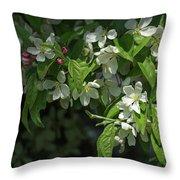 Under The Apple Tree Throw Pillow