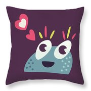 Kawaii Cute Cartoon Candy Character Throw Pillow