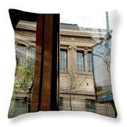 Paris Cafe Views Reflections Throw Pillow