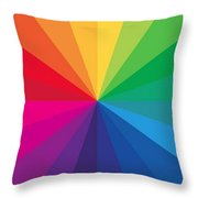 Color Wheel Throw Pillow