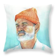 Bill Murray Steve Zissou Life Aquatic Throw Pillow