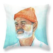 Bill Murray Steve Zissou Life Aquatic Throw Pillow