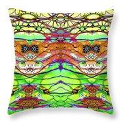Wild Flowers Abstract Art - Sharon Cummings Throw Pillow