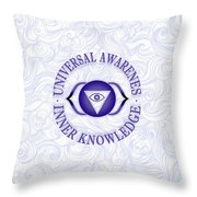 Third Eye Chakra Throw Pillow