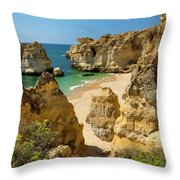 Albufeira Cove Throw Pillow