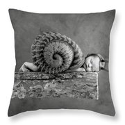 Julia Snail Throw Pillow by Anne Geddes