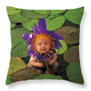 Waterlily Throw Pillow by Anne Geddes