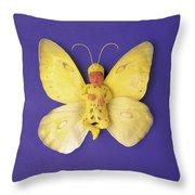 Fiona Butterfly Throw Pillow