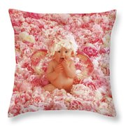 Peony Angel Throw Pillow by Anne Geddes