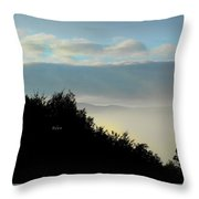 Timberholm Inn Morning View Stowe Vt Throw Pillow