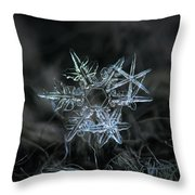 Snowflake Of 19 March 2013 Throw Pillow