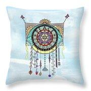 Peace Kite Dangle Illustration Art Throw Pillow