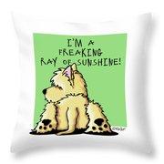 Cairn Terrier Sunshine Throw Pillow