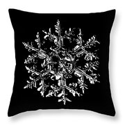 Snowflake Vector - Gardener's Dream Black Version Throw Pillow