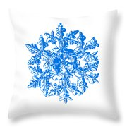 Snowflake Vector - Gardener's Dream White Version Throw Pillow