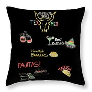 The American Grill Throw Pillow