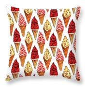 Soft Serve Pattern Throw Pillow