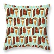 Ice Cream Novelties Pattern Throw Pillow