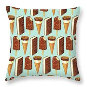Ice Cream Novelties Pattern Throw Pillow
