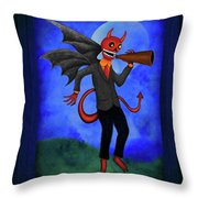 The Devil Appeared To Me Growling Through An Old Megaphone Throw Pillow