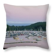 Sunrise Over Mallets Bay Variations - Two Throw Pillow
