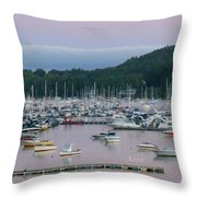 Sunrise Over Mallets Bay Panorama - Two Throw Pillow