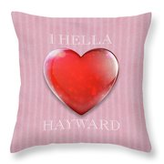 I Hella Love Hayward Ruby Red Heart On Pink Flannel Throw Pillow