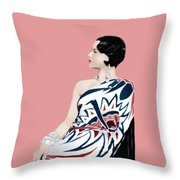 Louise Brooks In Hollywood Throw Pillow
