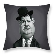 Celebrity Sunday - Oliver Hardy Throw Pillow