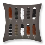 Raptor Feathers - Square Throw Pillow