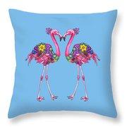 Fancy Felicity Flamingo Throw Pillow