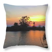 Sunset West Of Myers Bagels Vertical Throw Pillow